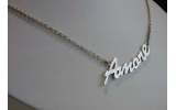Collana Names argento platinato Amore